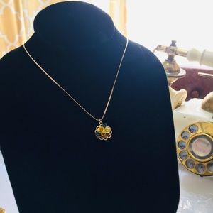 Accessories - Vintage Celluloid Floral Necklace